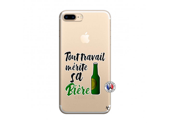 Coque iPhone 7 Plus/8 Plus Tout Travail Merite Sa Biere