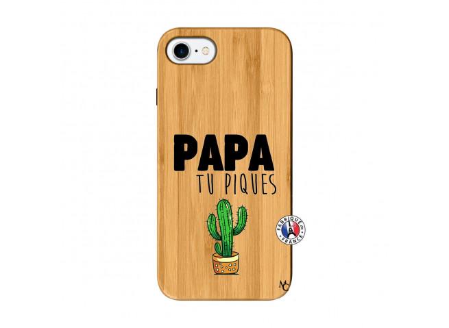 Coque iPhone 7/8 Papa Tu Piques en Bois