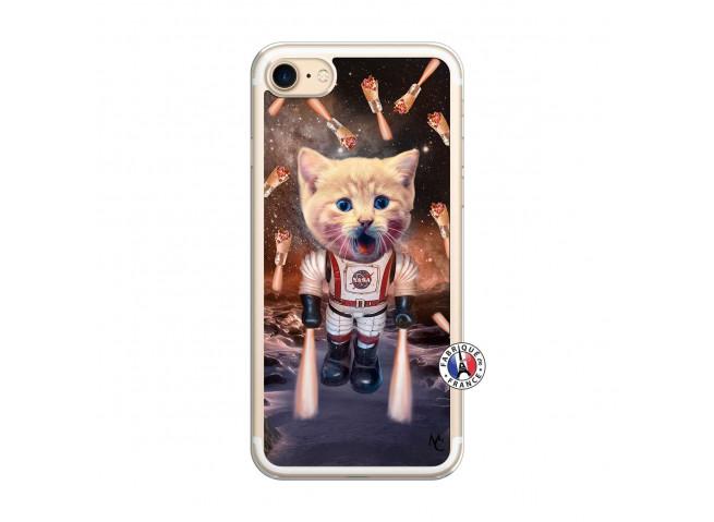 Coque iPhone 7/8 Cat Nasa Translu