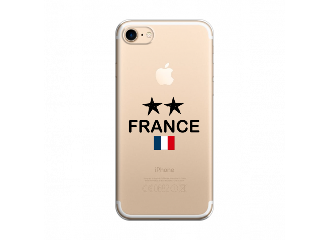 Coque iPhone 7/8 France 2 Etoiles