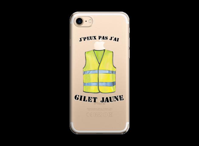 Coque iPhone 7/8 J Peux Pas J Ai Gilet Jaune