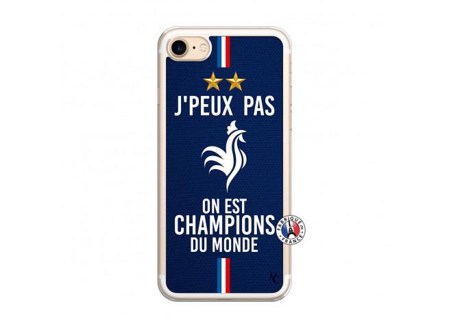 Coque iPhone 7/8 Je Peux Pas On Est Les Champions Du Monde Translu