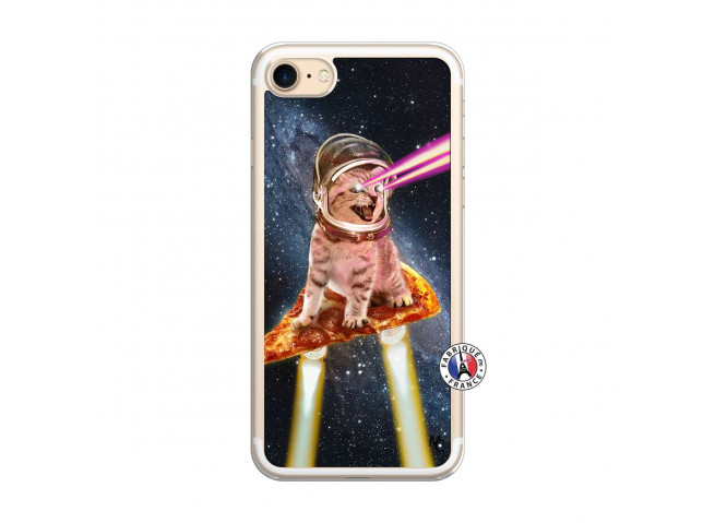 Coque iPhone 7/8 Cat Pizza Translu