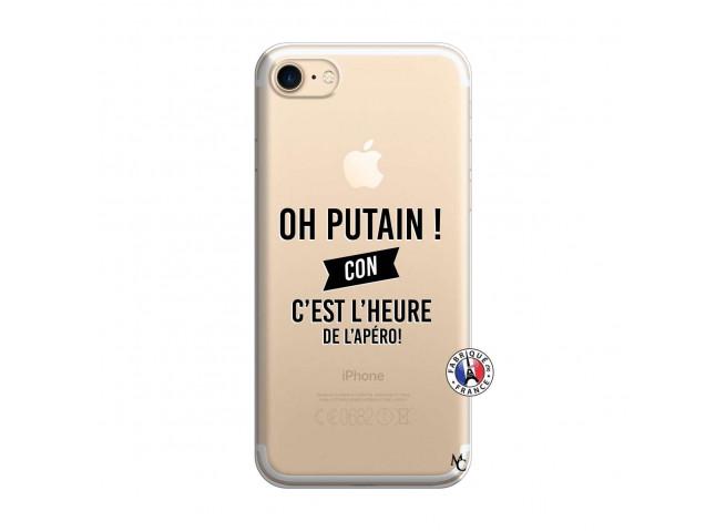 Coque iPhone 7/8 Oh Putain C Est L Heure De L Apero