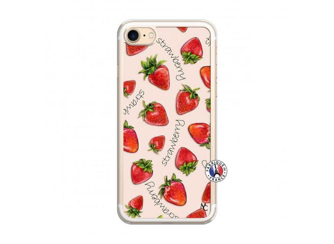 Coque iPhone 7/8 Sorbet Fraise Translu