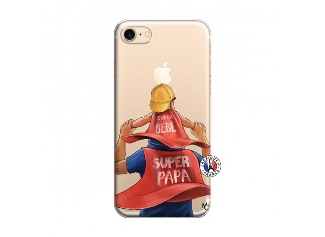 Coque iPhone 7/8 Super Papa et Super Bébé