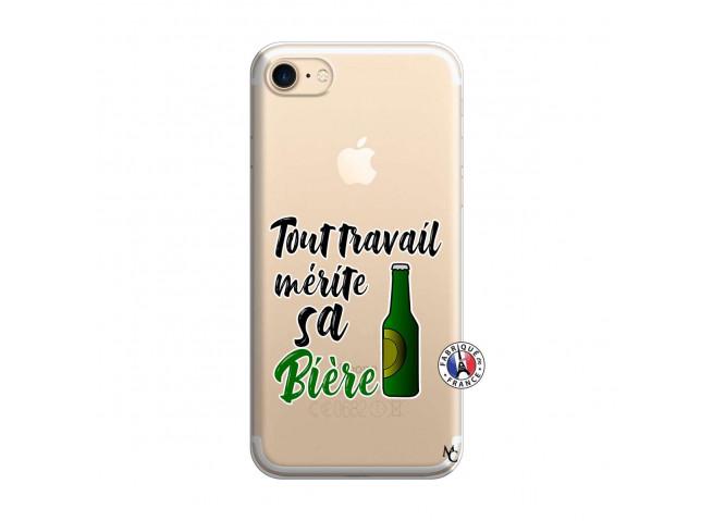 Coque iPhone 7/8 Tout Travail Merite Sa Biere
