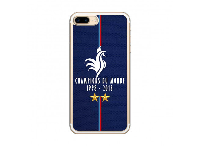 Coque iPhone 7Plus/8Plus Champions Du Monde 1998 2018 Transparente