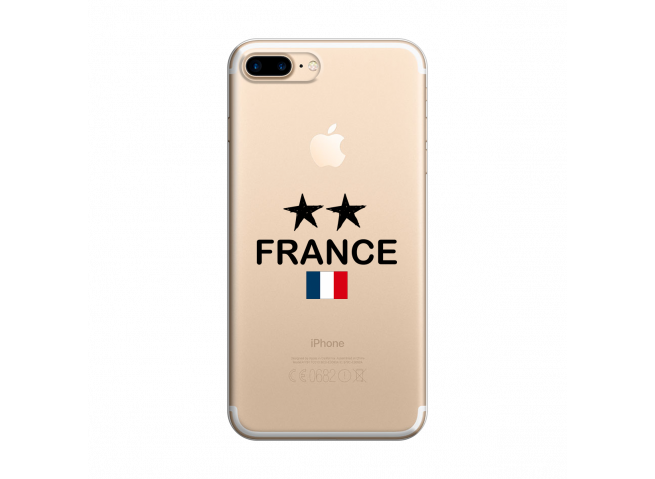 Coque iPhone 7Plus/8Plus France 2 Etoiles