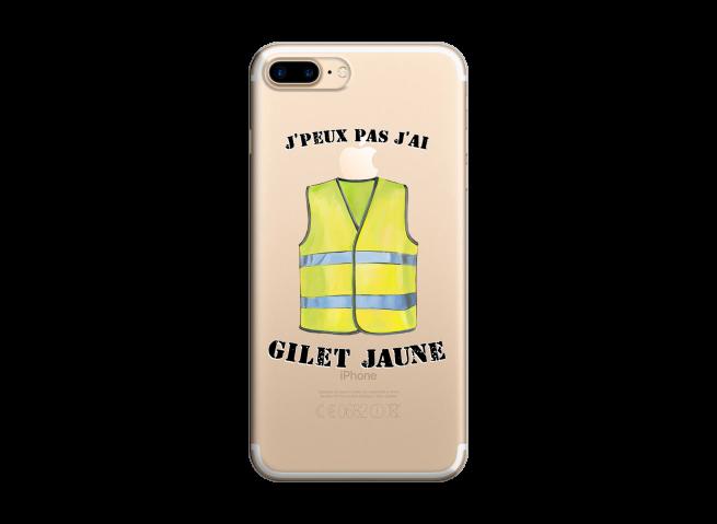 Coque iPhone 7Plus/8Plus J Peux Pas J Ai Gilet Jaune