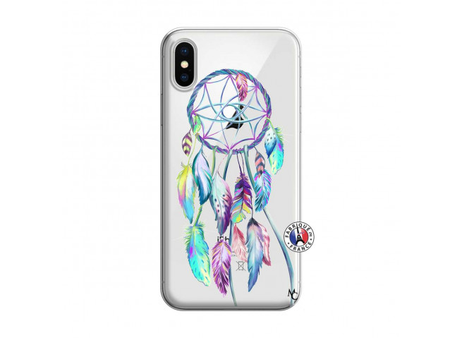 Coque iPhone X/XS Blue Painted Dreamcatcher