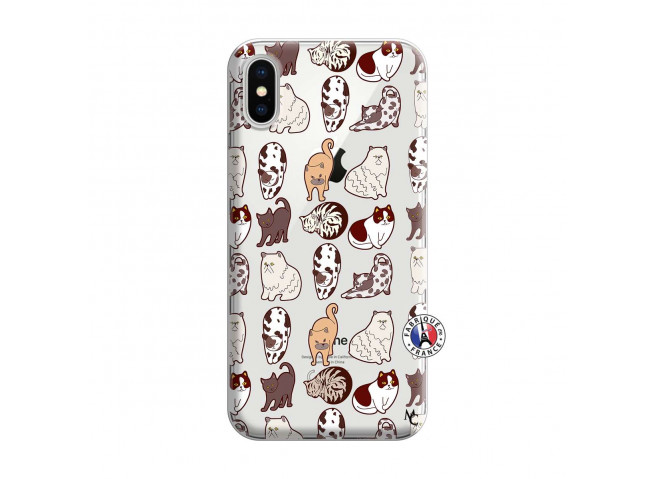 Coque iPhone X/XS Cat Pattern