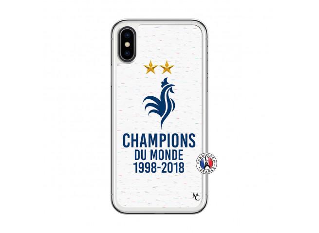 Coque iPhone X/XS Champion Du Monde Translu