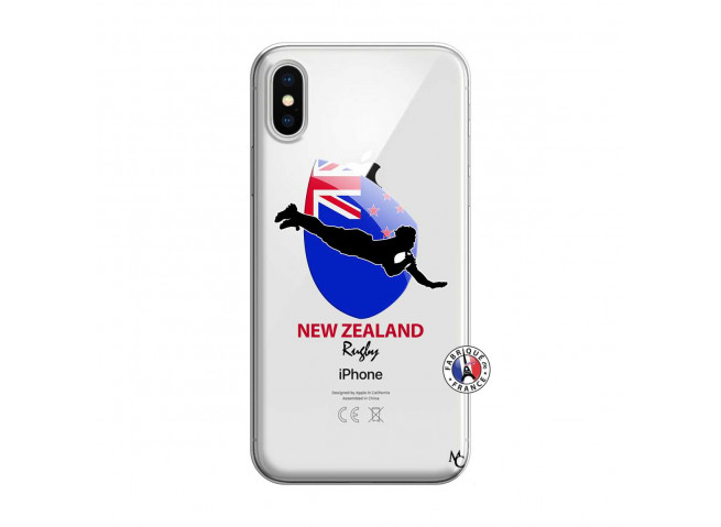 Coque iPhone X/XS Coupe du Monde Rugby- Nouvelle Zélande