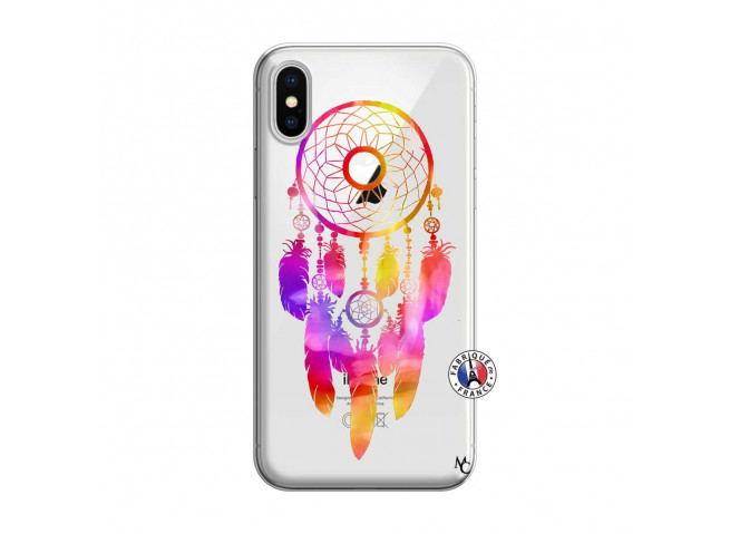 Coque iPhone X/XS Dreamcatcher Rainbow Feathers