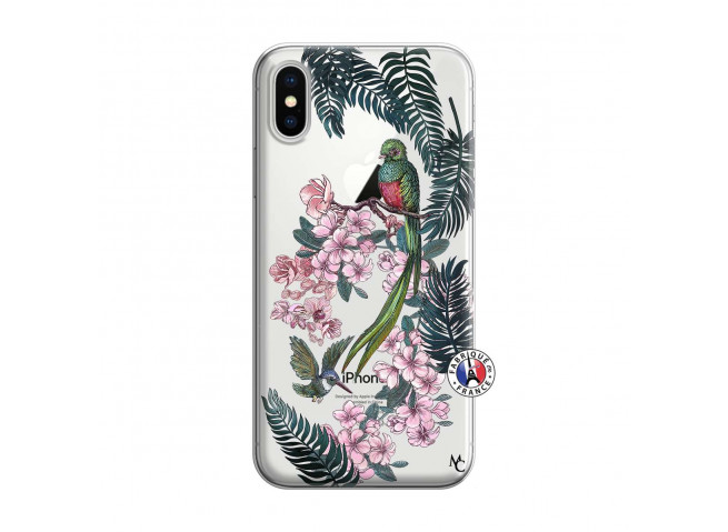 Coque iPhone X/XS Flower Birds