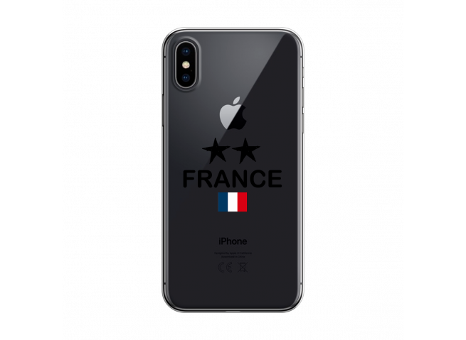 Coque iPhone X/XS France 2 Etoiles
