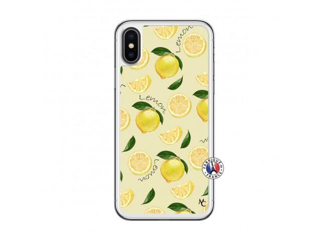 Coque iPhone X/XS Sorbet Citron Translu