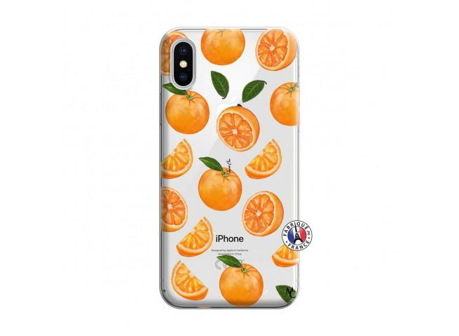 Coque iPhone X/XS Orange Gina