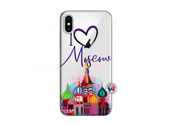 Coque iPhone X/XS I Love Moscow