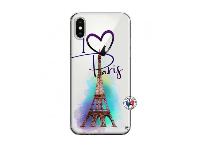 Coque iPhone X/XS I Love Paris