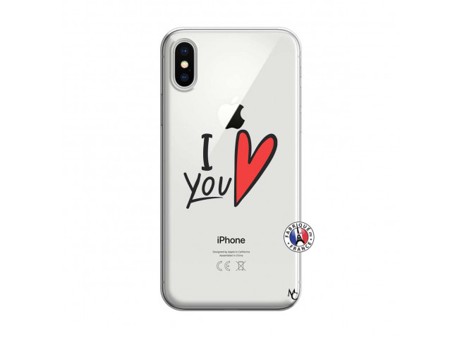 Coque iPhone X/XS I Love You