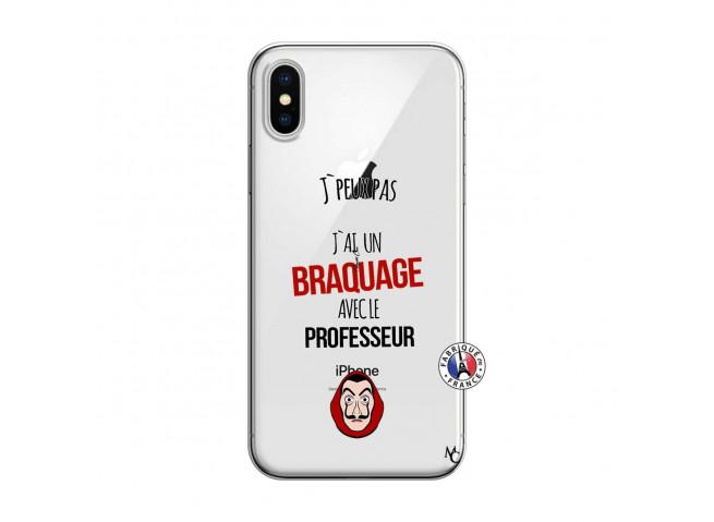Coque iPhone X/XS J Peux Pas J Ai Un Braquage Avec Le Professeur