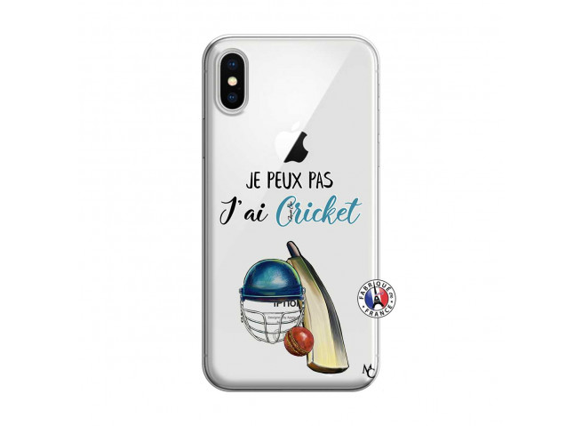 Coque iPhone X/XS Je peux pas j'ai cricket
