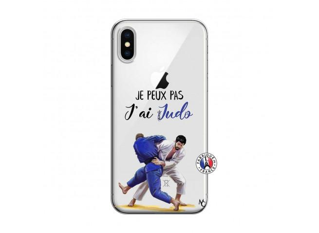Coque iPhone X/XS Je peux pas j'ai Judo