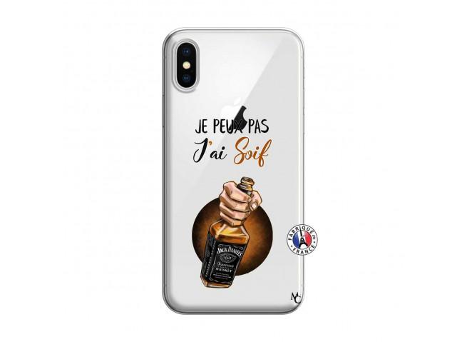 Coque iPhone X/XS Je Peux Pas J Ai Soif