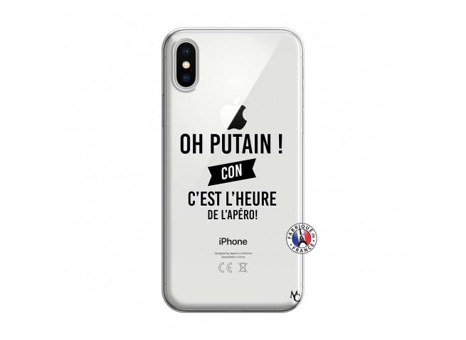 Coque iPhone X/XS Oh Putain C Est L Heure De L Apero