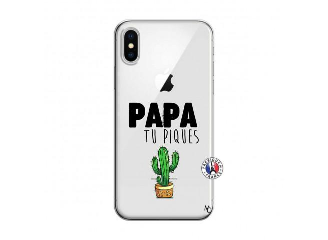 Coque iPhone X/XS Papa Tu Piques