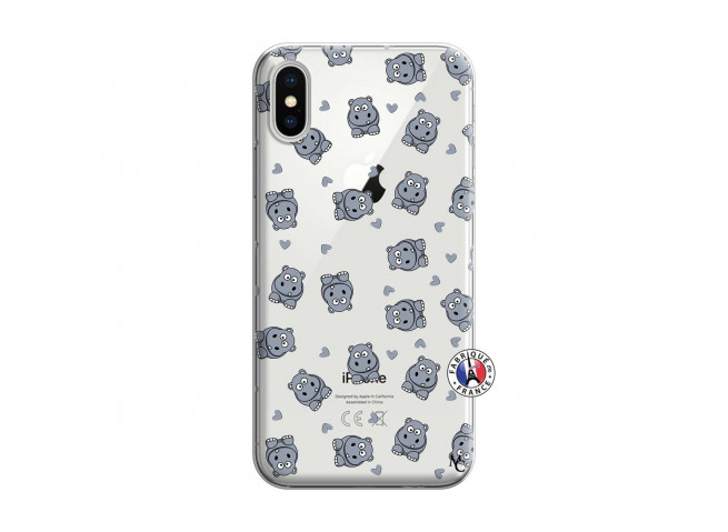 Coque iPhone X/XS Petits Hippos