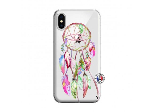 Coque iPhone X/XS Pink Painted Dreamcatcher