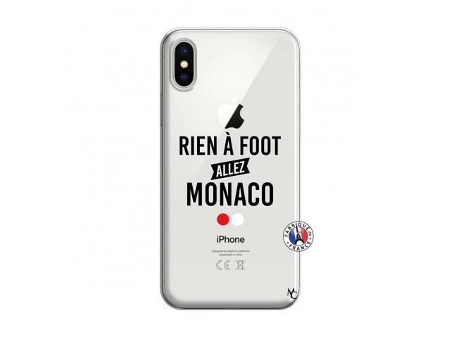 Coque iPhone X/XS Rien A Foot Allez Monaco