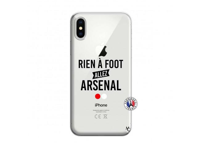 Coque iPhone X/XS Rien A Foot Allez Arsenal