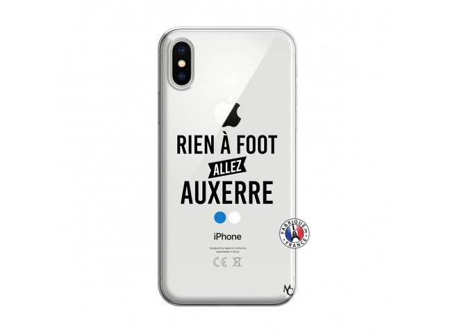 Coque iPhone X/XS Rien A Foot Allez Auxerre