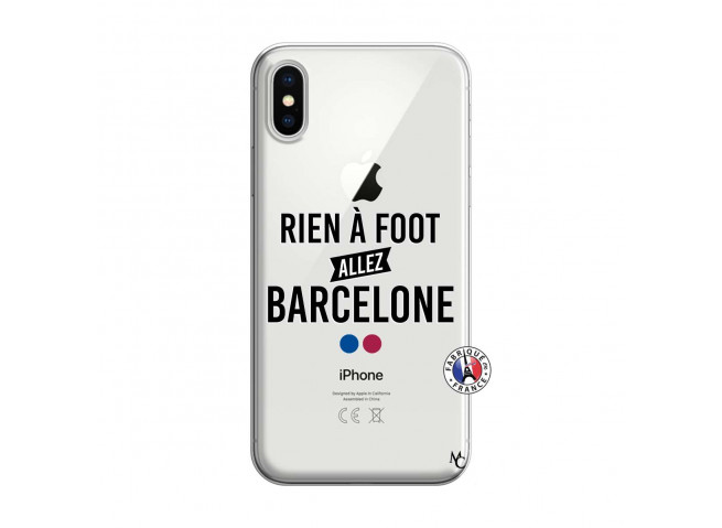 Coque iPhone X/XS Rien A Foot Allez Barcelone