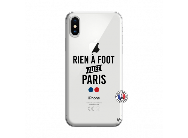 Coque iPhone X/XS Rien A Foot Allez Paris