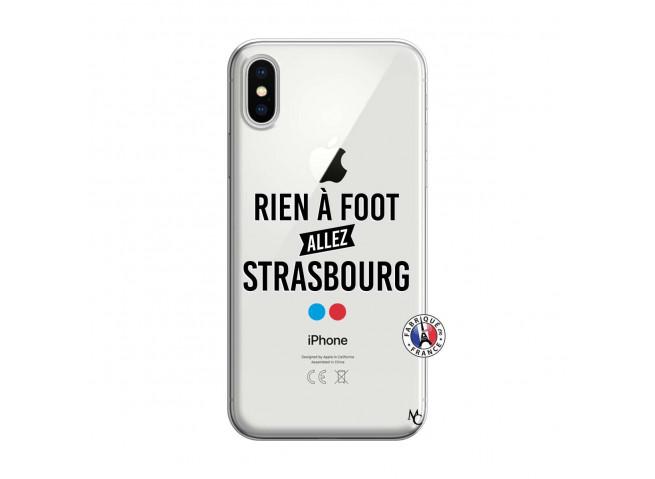 Coque iPhone X/XS Rien A Foot Allez Strasbourg