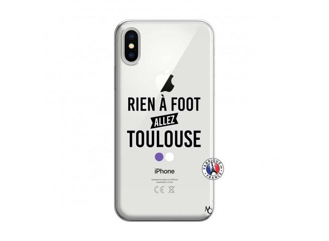 Coque iPhone X/XS Rien A Foot Allez Toulouse