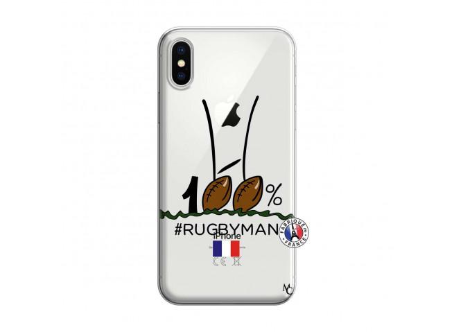 Coque iPhone X/XS 100 % Rugbyman Entre les Poteaux