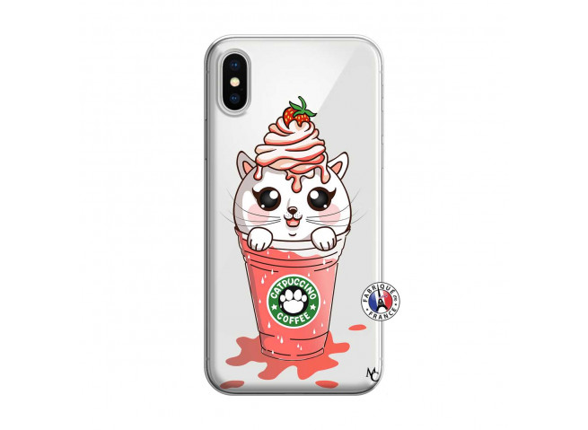 Coque iPhone X/XS Catpucino Ice Cream