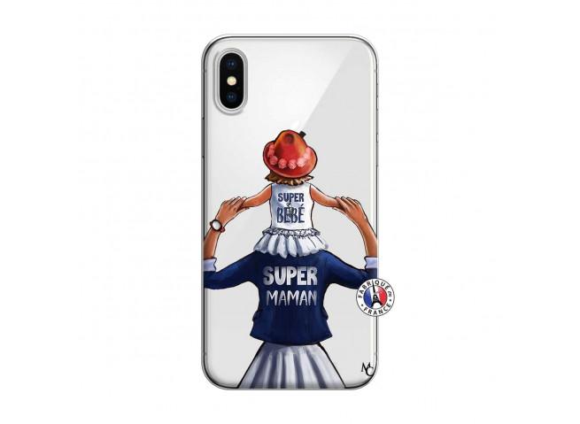 Coque iPhone X/XS Super Maman Et Super Bébé