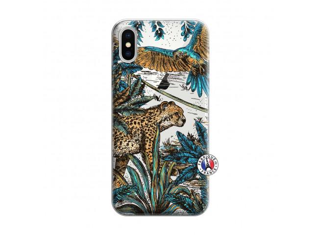Coque iPhone X/XS Leopard Jungle