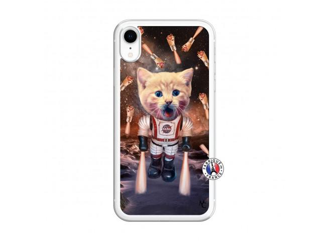 Coque iPhone XR Cat Nasa Translu