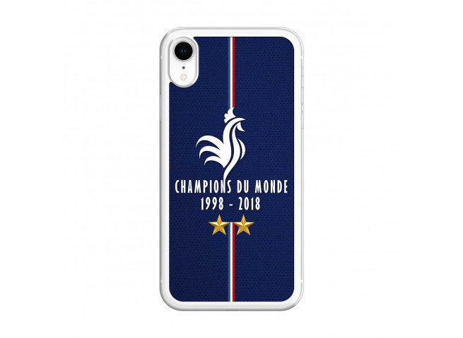 Coque iPhone XR Champions Du Monde 1998 2018 Transparente