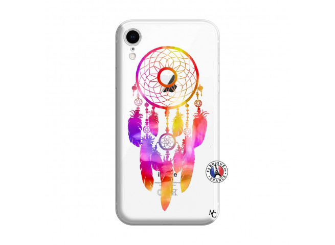 Coque iPhone XR Dreamcatcher Rainbow Feathers