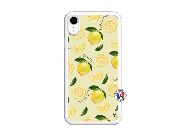 Coque iPhone XR Sorbet Citron Translu