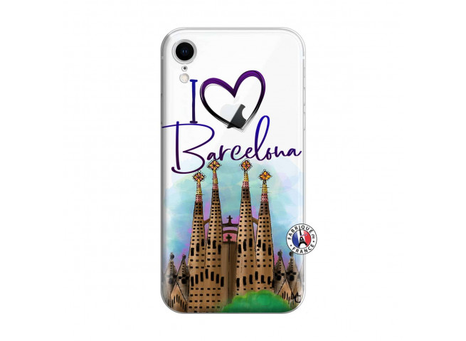 Coque iPhone XR I Love Barcelona
